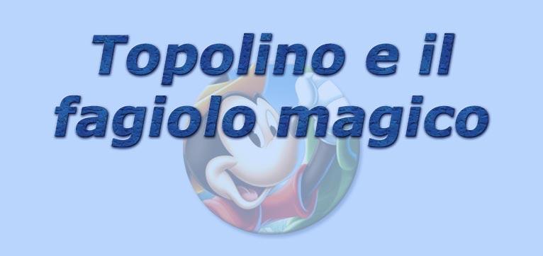 Topolino e il fagiolo magico