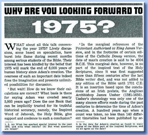 fine del mondo nel 1975