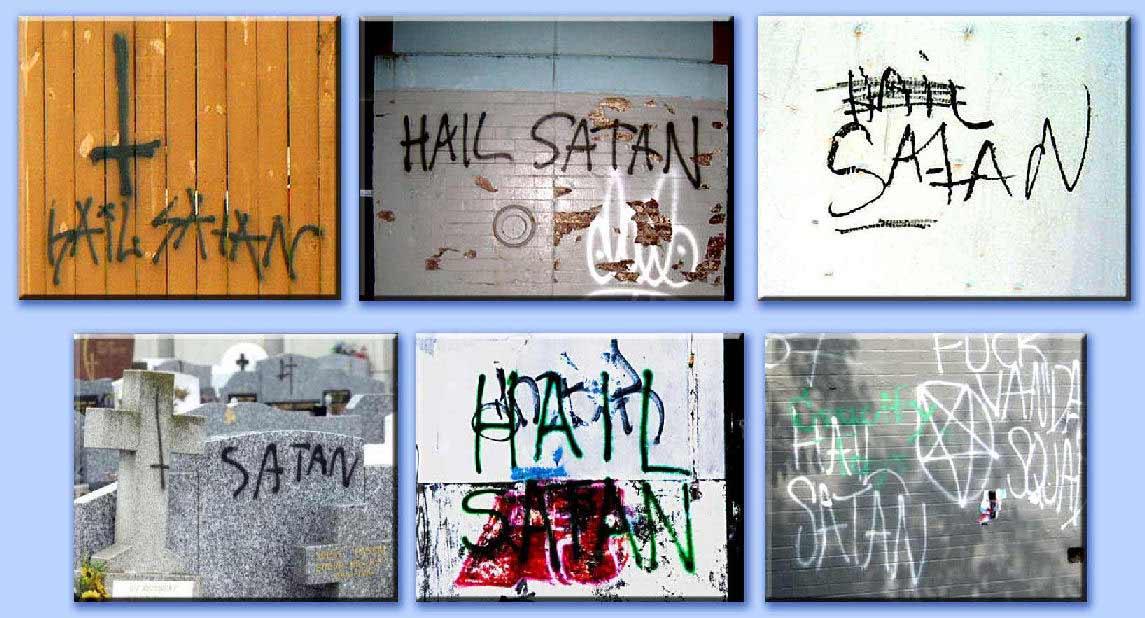 galleria di graffiti satanici