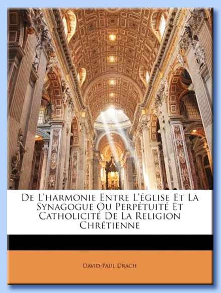 de l'harmonie entre l'église et la synagogue - david-paul drach