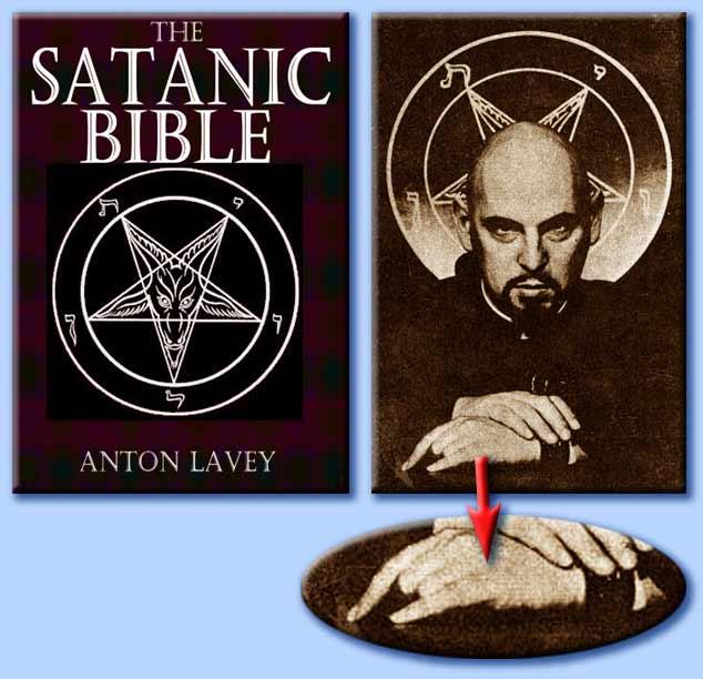 anton lavey - segno delle corna - the satanic bible