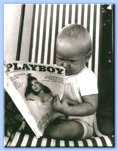 bambino con playboy