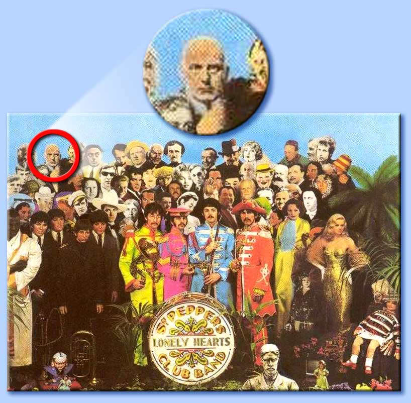 aleister crowley sulla cover di sergeant pepper's