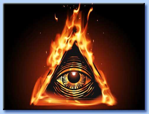 occhio onniveggente satanico