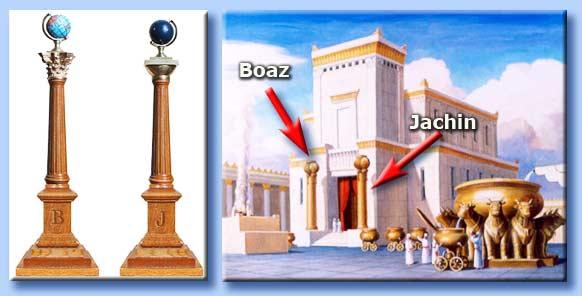 colonne massoniche - tempio di salomone