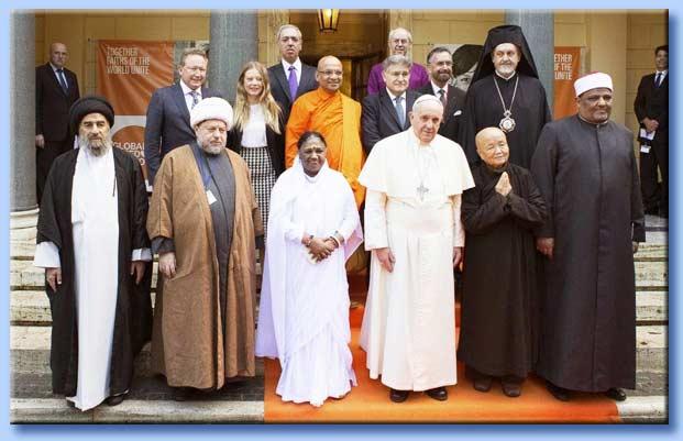 bergoglio - incontro interreligioso