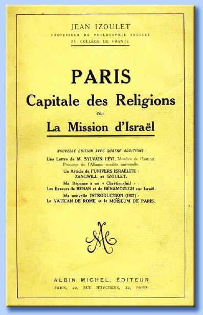 paris capitale des religions ou la mission d'israel