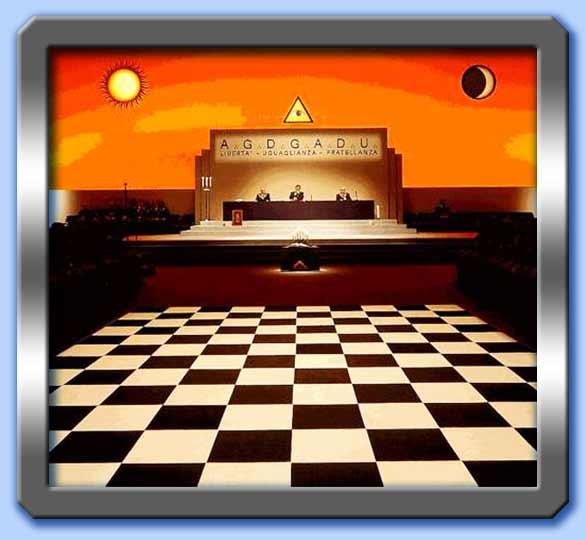 Il simbolismo del pavimento massonico informazione for Disegni unici del pavimento