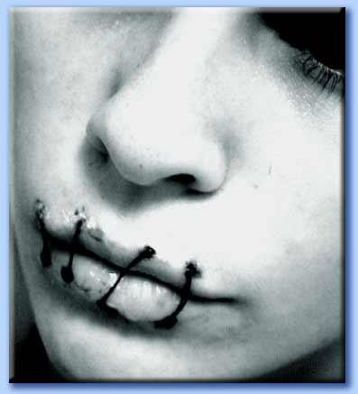 bocca cucita - silenzio