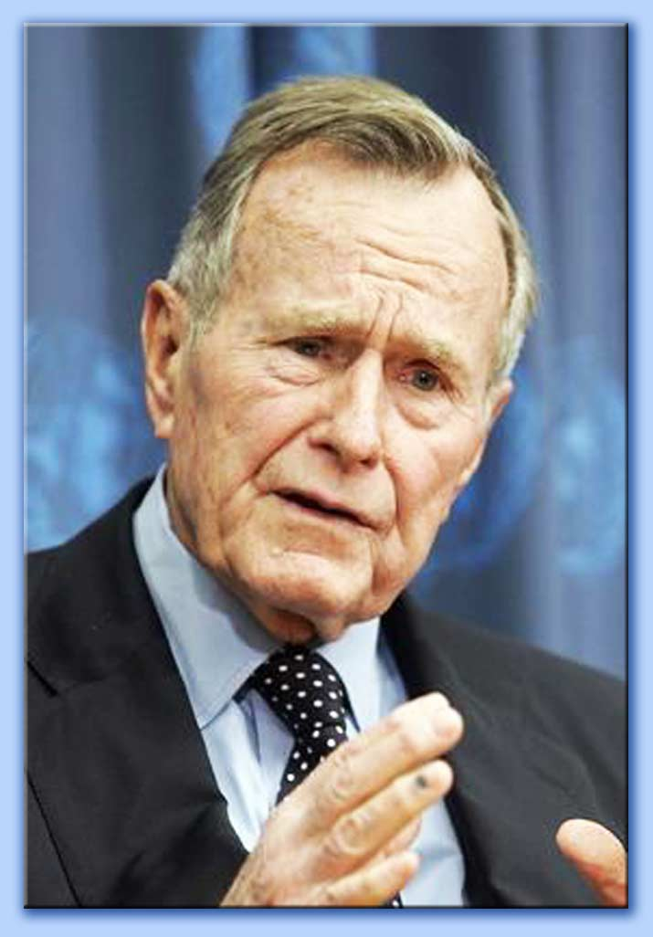 george bush senior.