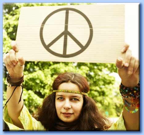 hippy pacifista