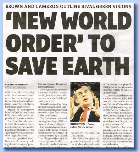 un nuovo ordine mondiale per salvare la terra