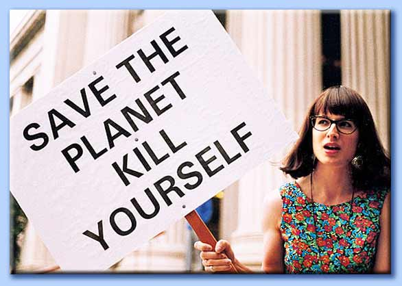 salva il pianeta: suicidati