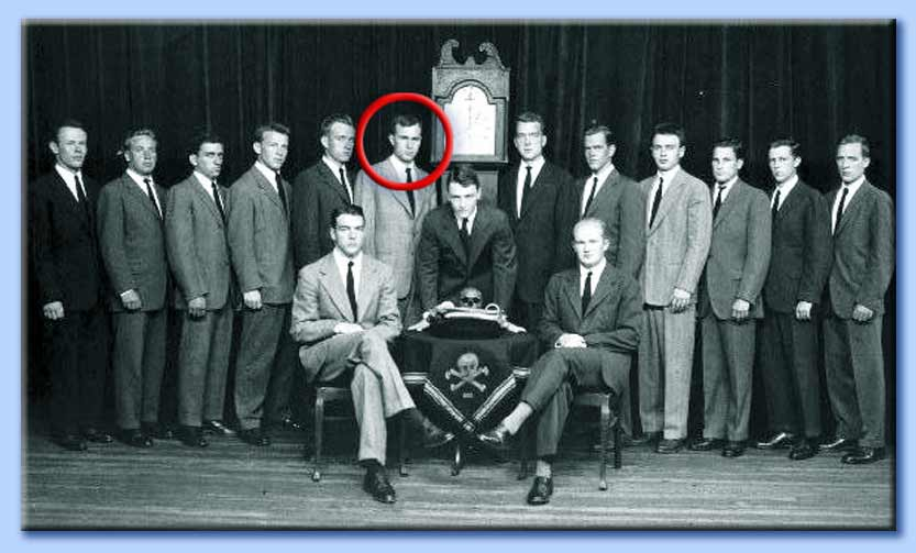 skull and bones - george walker bush