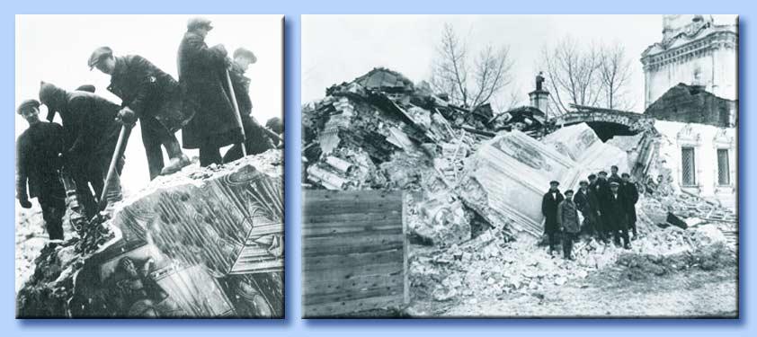 demolizione della chiesa di gorky