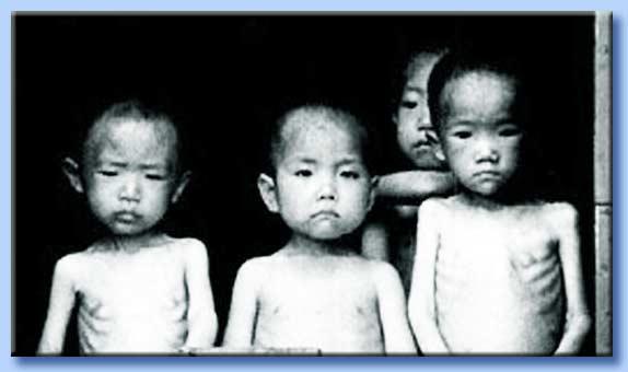 bambini cinesi affamati