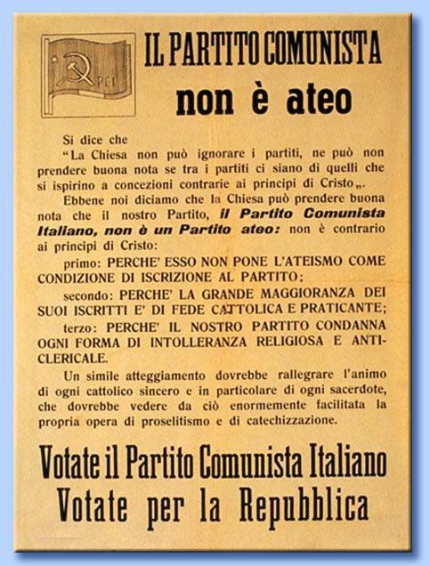 il partito comunista non è ateo
