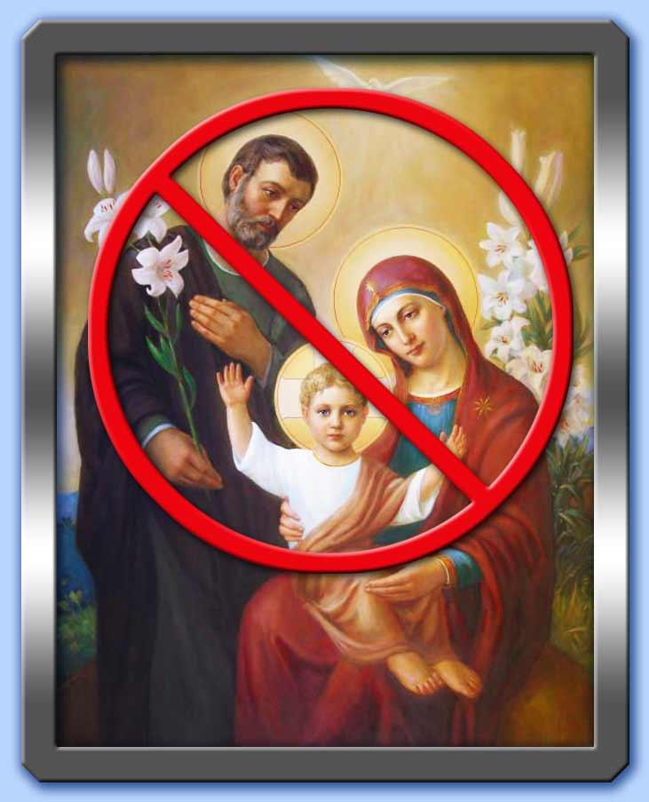 contro la sacra famiglia