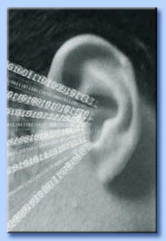 orecchio colpito da molti stimoli