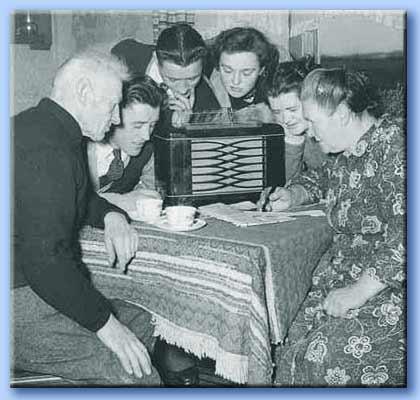 la radio in famiglia